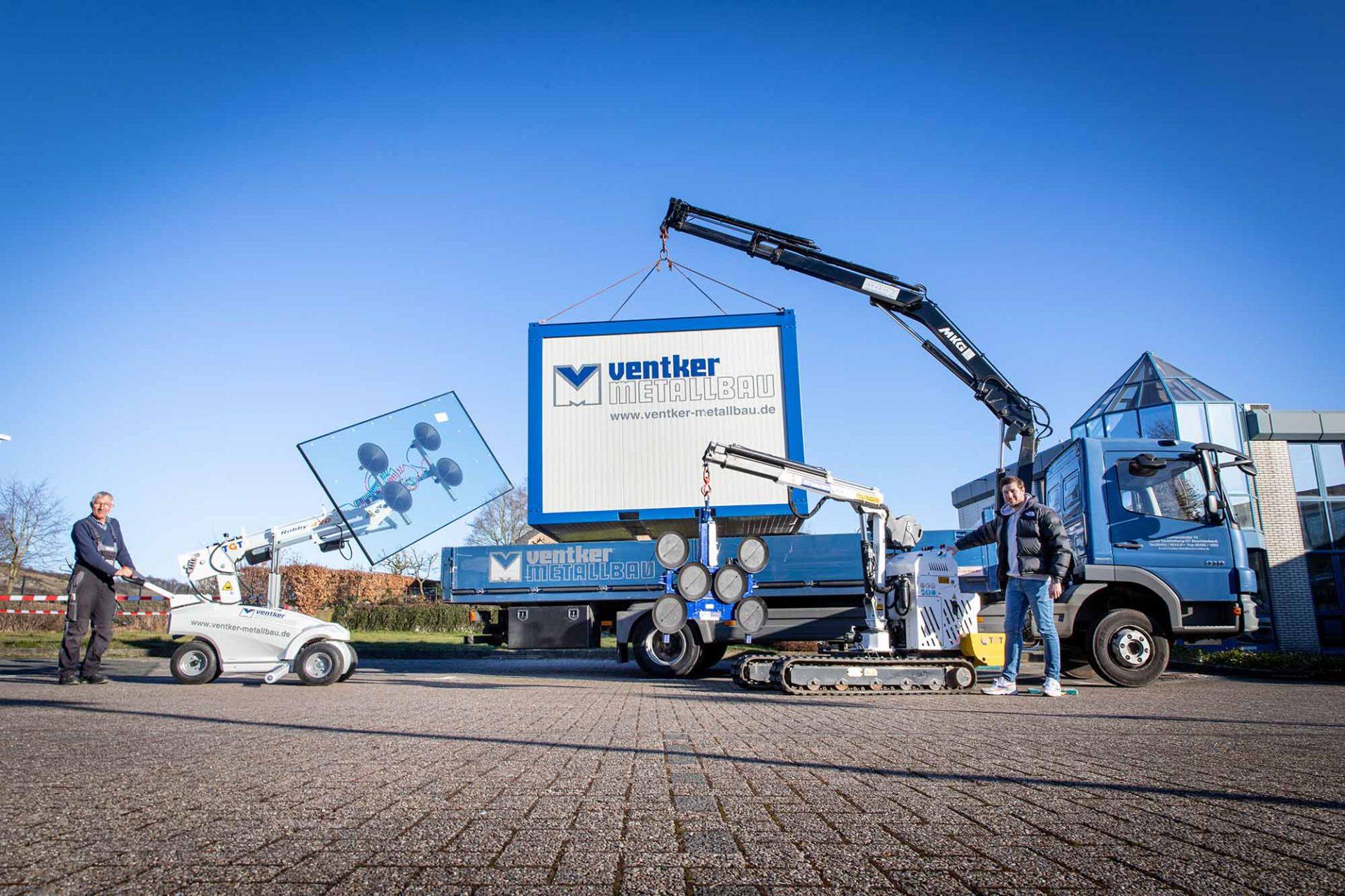 Ventker Metallbau Glasscheiben Transport